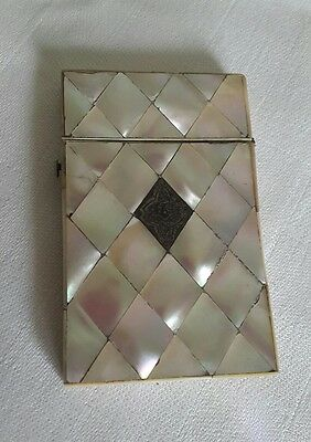 A Lovely Antique Mother of Pearl Card Case