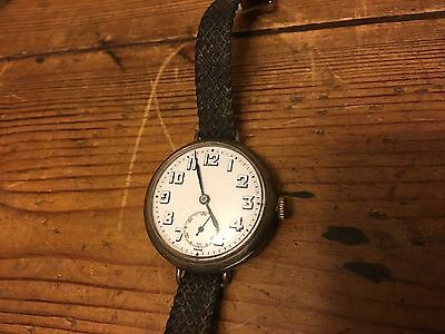 Rare Antique C.N Silver .925 Watch Hallmarked In The London Assay Office