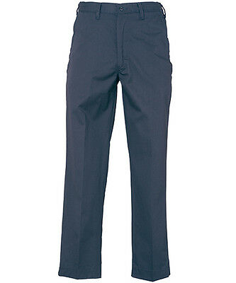 Work Uniform Industrial Pants w/ FLEX Waist REED Navy Blue (65/35 Blend) Irreg