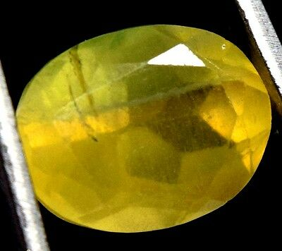 "9.20 Ct Natural Afghanistan Yellow Fluorite ""GGL Certified"" Oval Cut Best Gem"