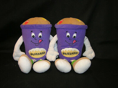 Dairy Queen Dq 1999 Doll Lot 2 Plush Stuffed Blizzard Ice Cream
