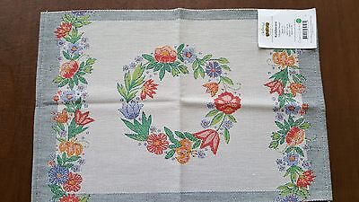 "100% Cotton Kurbitskrans Small Table Square 14"" x 19"" by Ekelund"