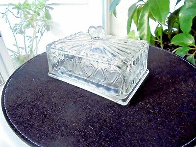 Anchor Hocking 1/2 Pound Glass Covered Butter Dish