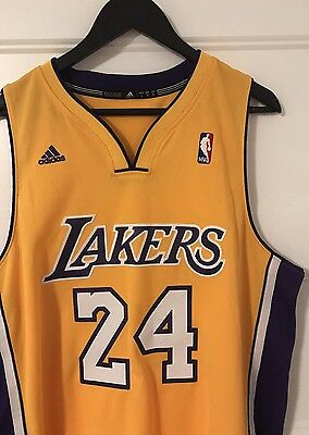 Kobe Bryant Los Angeles Lakers Authentic Swingman Home Jersey - Adidas size L