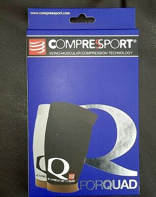compressport compression thigh guard,size T3,black,upper quad 57-67 lower 39-45