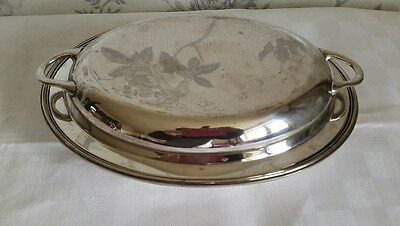 A Vintage Silver Plated Entrée Dish by Thomas Wooley.