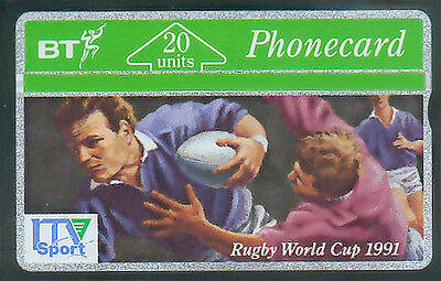 BT Advert 21 Rugby World Cup 1991, ITV Sport, mint phonecard