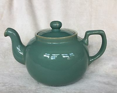 Denby Manor Green 2 1/4 Pint Large Teapot Good Condition