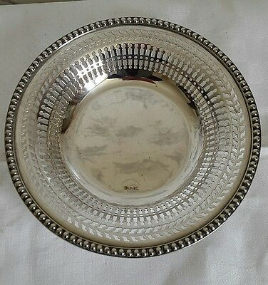 A Victorian Silver Plated Pierced Bowl by John Sherwood & Sons