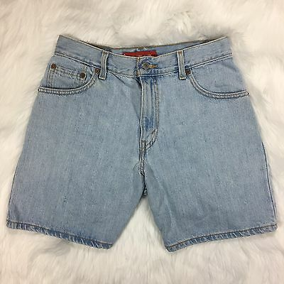 Levi's Mom Jean Shorts Blue Denim Vtg 90s Women's Size 6 Classic Fit high waist