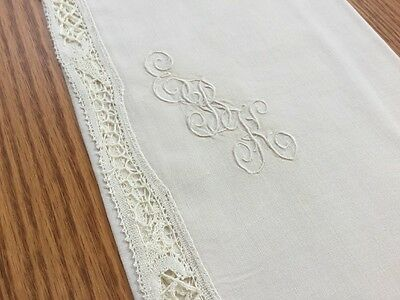 COUTURE 12 Pc Finest Linen Napkins Needlelace Edge Continental Style 25x11  N4