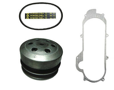 Tao Tao ATM50A1 50cc Scooter Rear Clutch, Powerlink Drive Belt & Cover Gasket