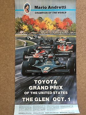 Original 1978 Us Grand Prix Event Poster *jps Lotus*