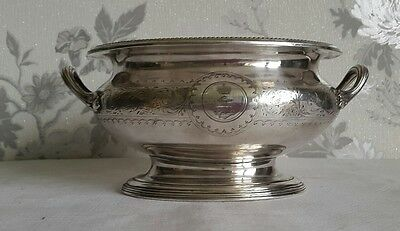 A Victorian Silver Plated Pedestal Bowl by Elkington & Co