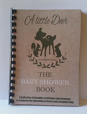 Baby Shower Book Oh Deer , Guest Predictions, Gifts, Memories, A5 Size