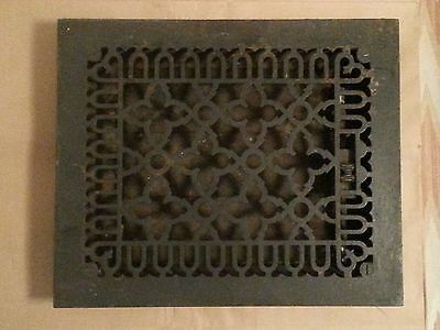 Vtg/antique Cast Iron Forced Hot-Air Heating Grate☆Working Louvers☆Decorative