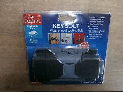 Squire Keybolt Weatherproof Locking Bolt 4 Lever Lock Sheds Garage Van Gate