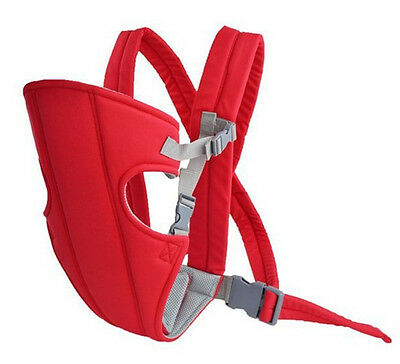 Adjustable Infant Baby Carrier Newborn Sling Wrap Rider Backpack Red Free Shipp