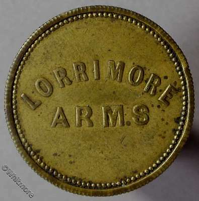 Pub Token London, Walworth - Lorrimore Arms / 1½ in wreath