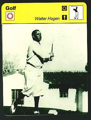 Editions Rencontre - Sportscaster Cards - Golf - Walter Hagen