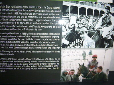 Signed By The Jockey Geraldine Rees First Woman To Complete The Grand National