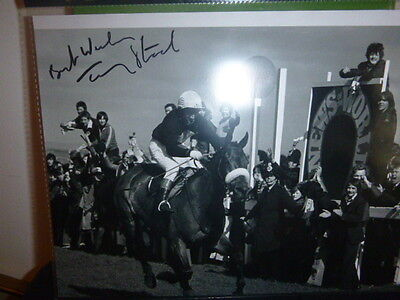 3 Personally Signed By The Jockey Photos Of Red Rum  Winning The Grand National