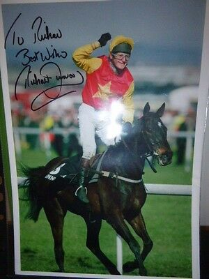 2 Personally Signed Photos  Of  Richard Dunwoody  Winning The Grand National