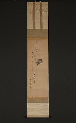 """Japanese Hanging Scroll : """"Sparrow""""  [no.y12790]"""