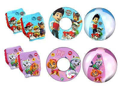 Paw Patrol Kids Inflatable Swimming Pool Arm Bands Ring Beach Ball Float
