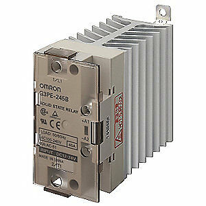 OMRON Solid State Relay,12 to 24VDC,45A, G3PE-245B DC12-24
