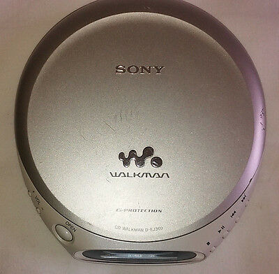 Sony Walkman D-EJ360 Portable cd player Tested  Working Jog Proof G Protection