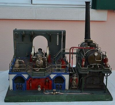 Rare antique stationary  Steam engine Hight quality model power plant must see