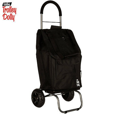 NEW Dbest Trolley Black FOLDING TROLLEY DOLLY - 110lb Capacity - Weighs 4lbs