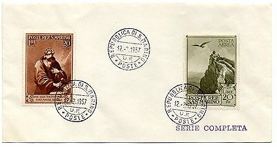 San Marino 1957 First Day Cover