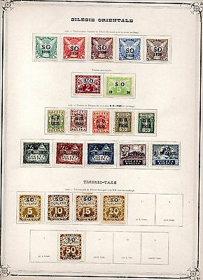 Czechoslovakia SO 1920 Overprints Collection, Eastern Silesia, Mint 2 x Pages