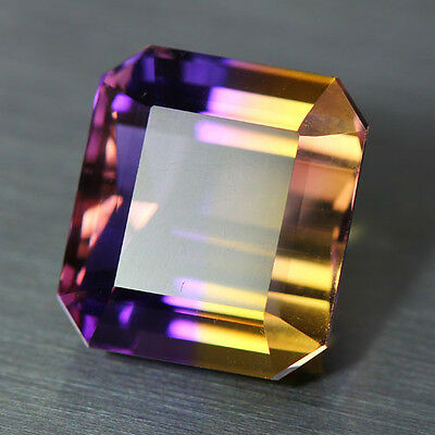 15.99 Cts_Wow ! Amazing Top Rare Gemstone_100 % Natural Bi-Color Ametrine_Africa