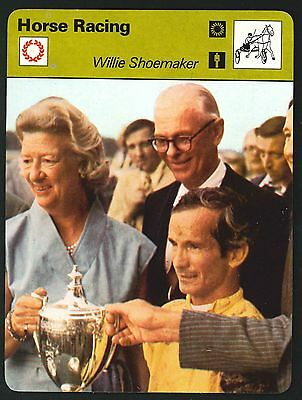 Editions Rencontre - Sportscaster Cards - Horse Racing - Willie Shoemaker
