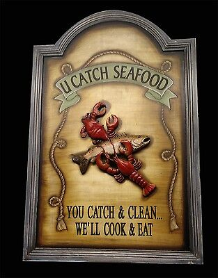 Crab shack seafood sign