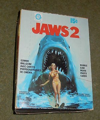 1978 O-Pee-Chee Jaws 2 Trading Cards Boxed Set Of 36 Unopened Packs