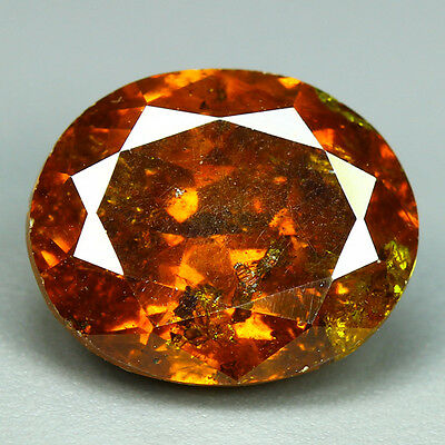 7.49 Cts-Breathtaking Fire - Sun Set Reddish Orange - 100 % Natural Sphalerite