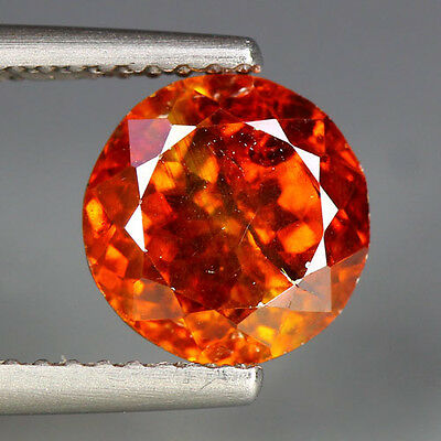 3.35 Cts_Sun Set Color_Breathtaking Fire_100 % Natural Sphalerite_Brilliant Cut