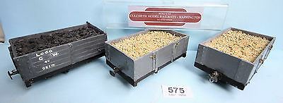 Kit/scratch '1/narrow' Gauge Lot Of 3X Freight Wagons Unboxed 575