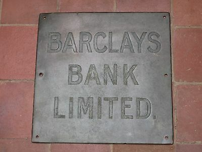 Old Brass Barclays Bank Limited Bank Sign .