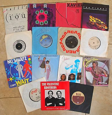 """BOOGIE RECORD COLLECTION JOBLOT 7"""" VINYL 30 SINGLES 80s Groove Soul Disco Funk"""
