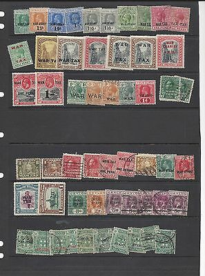 Misc War Tax stamps Mint & used