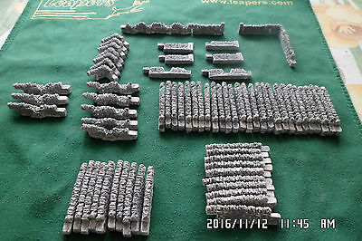 n gauge scale walling railway train set layout 70 piece set grey walls