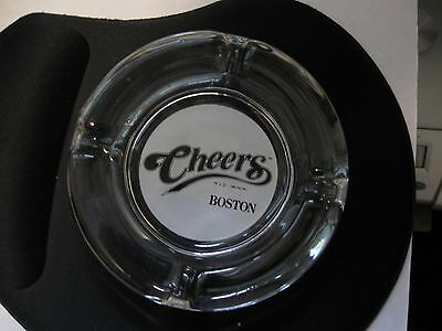 New CHEERS BOSTON clear glass ashtray 1992 TV Show