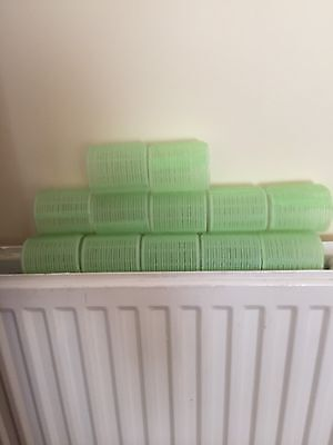 12 Large Velcro Hair Rollers