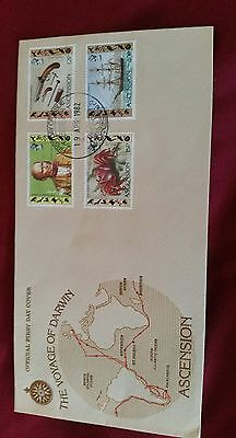 Ascension Island Stamps 1982 Official First Day Cover  The Voyage of Darwin