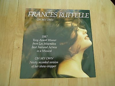 """Frances Ruffelle ~ On My Own ~ 12"""" Single ~ Picture Sleeve ~ 1987 ~ Rare"""